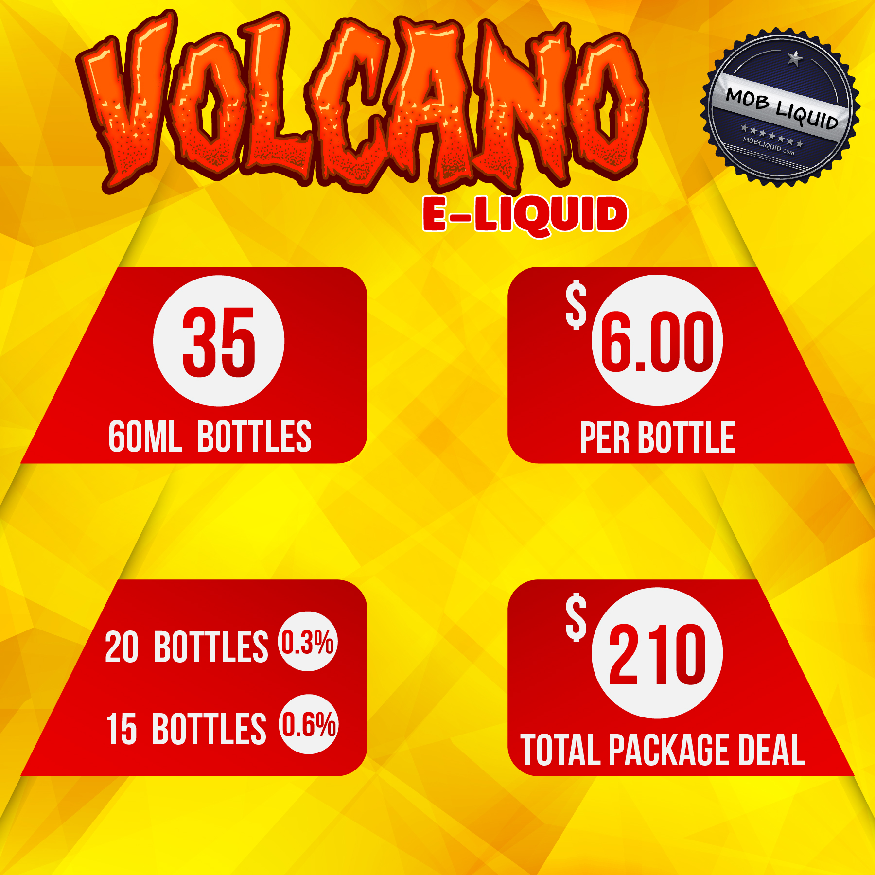 Mob Liquid | Packages | 60ml Volcano