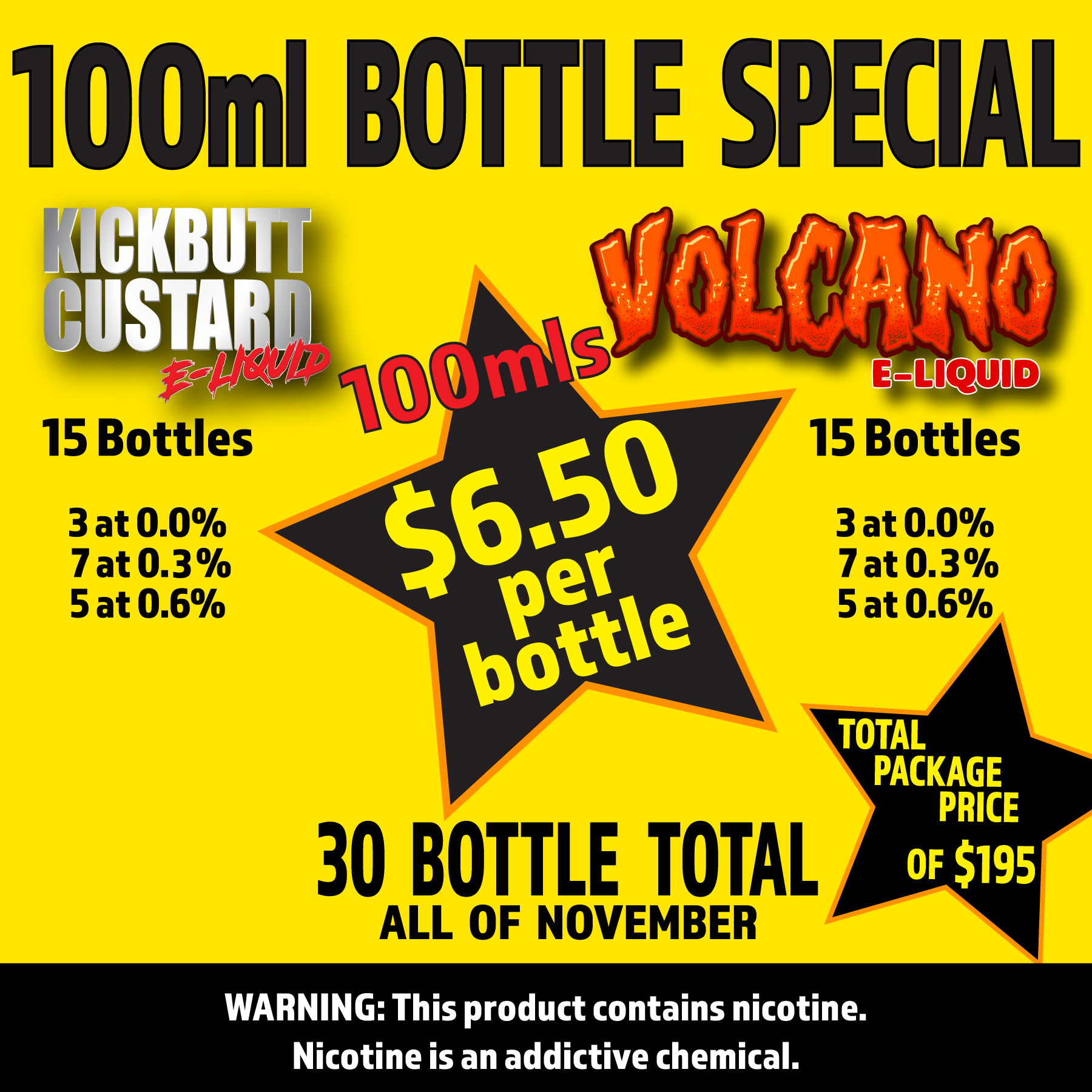 Mob Liquid | Packages | Kick / Volcano 100ml Intro Promo