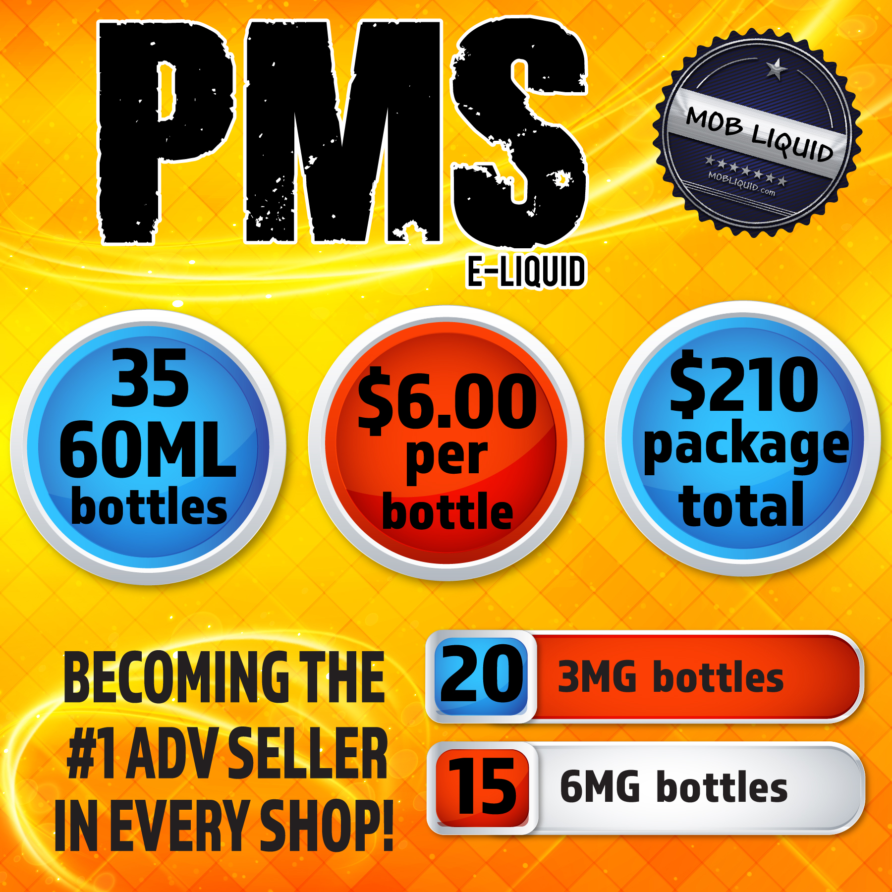 Mob Liquid | Packages | 60ml PMS